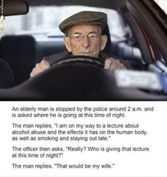 An elderly man is stopped by the police - Win Picture