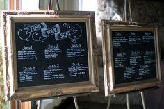 DIY gold frame escort seating charts | Erin & David's DIY, budget-friendly…