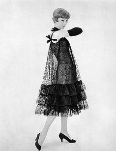 Lace dress by Balenciaga, 1957