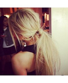 Messy Ponytail: Whether it's for a post-swim BBQ or a low-key day at the office, a messy ponytail can look fab and effortless and is especially suitable for a day at the beach...great with our hair cuff...