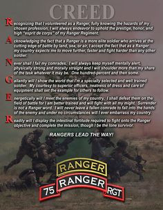Rangers Lead the Way The US Army Rangers are masters at teamwork  creed_rgr2.jpg (612×792)