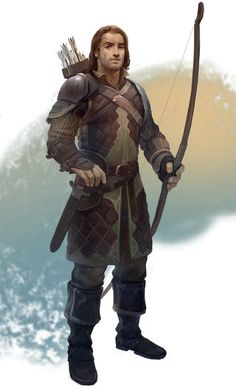 Male archer with longish brown hair.