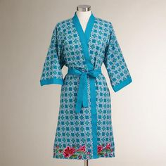 One of my favorite discoveries at WorldMarket.com: Embroidered Maleah Robe