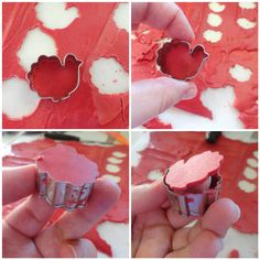 Candy Melt Cut Outs - just melt, cool & cut out shapes with tiny cookie cutters! Use these to garnish cookies, cakes etc.