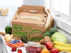 Detroit's Sister Pie featured in Bon Appetit, restaurant week and Organic Packaging, Fruit Packaging, Food Packaging Design, Beverage Packaging, Packing Box Design, Fruit And Veg Shop, Vegetable Packaging, Veggie Box, Vegetable Shop
