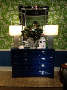 Bungalow5 37m  Paramount, the biggest hit at our booth in High Point--right on trend with the bold blue hues all over market!! #hpmkt via @Krista Brown 5