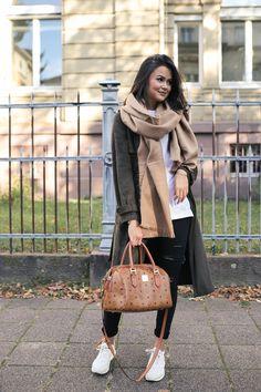 Outfit: oversize Schal MARYBENIGA.COM