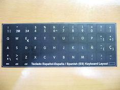 a imagen digital pegatinas teclado espanol hp probook elitebook 14x14 es keyboard