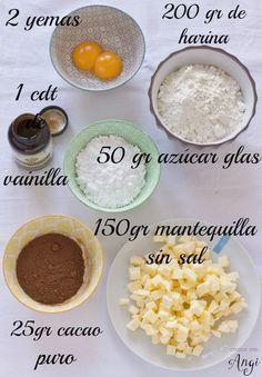 Masa quebrada de chocolate paso a paso | Cocinar en casa es facilisimo.com Easy Low Carb Bread Recipe, Lowest Carb Bread Recipe, Mini Cakes, Cupcake Cakes, Cupcakes, Good Pie, Love Eat, Sweet Tarts, Galette