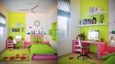 colorful bedroom design for girls