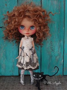 """Blythe doll outfit  """"Old days whispers"""" vintage embroidered dress"""