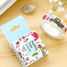 20 pcs/lot  DIY Paper washi tape Cartoon Vehicles decorative Adhesive Tape/masking tape Stickers Size 15mm*10m #Affiliate