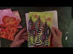 Printing on Photo Paper with Gelli Arts Plate - YouTube
