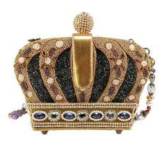 Mary Frances Purses, Mary Frances Handbags, Gold Crown, Crown Royal, Boho Bags, Thing 1, Royal Jewels, Vintage Purses, Purses And Handbags