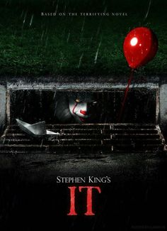 Poster for the newest adaption of Stephen King& It, coming in Stephen Kings, Films Stephen King, Es Pennywise, Pennywise The Dancing Clown, Scary Movies, Great Movies, Movies Free, Comedy Movies, 2017 Movies