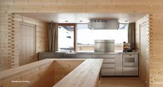 Brunner Sanina - Peter Zumthor - The Unterhus - Leis Ob Vals, Switzerland - 2009 - photo by Ralph Feiner Cabins In The Woods, House In The Woods, Dining Area, Kitchen Dining, Architecture Design, Timber Architecture, Teak Bathroom, Wooden House Design, Wooden Cabins
