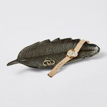 Nickel Feather Dish