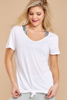 3 The Most Classic White Top at reddressboutique.com