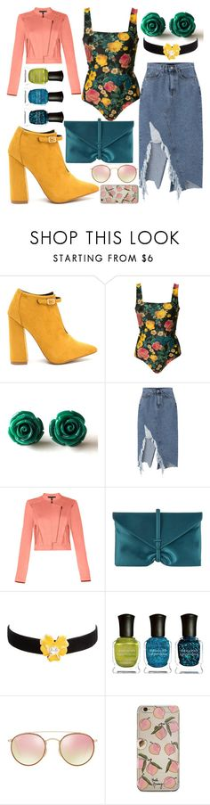 """""""*GIRL POWER*"""" by safiastyled ❤ liked on Polyvore featuring FAUSTO PUGLISI, BCBGMAXAZRIA, VBH, Kenneth Jay Lane, Deborah Lippmann and Ray-Ban"""