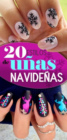 20 Estilos de uñas navideñas. christmas nails desings. Nails style. Nails art.