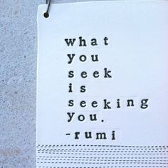 plaque what you seek rumi quote IN STOCK by mbartstudios on Etsy, $30.00