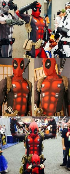 Deadpool Cosplay Morphsuit  Become the center of attention at the next Comic-Con with your wise-cracking humor while wearing the Deadpool cosplay morphsuit. Made from athletic grade material for a superb fit it comes with everything you need to turn yourself into everyones favorite anti-hero.  $425.00  Check It Out  Awesome Sht You Can Buy
