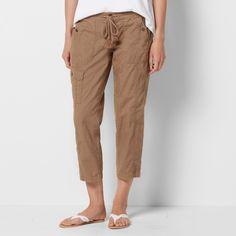 Petite Size SONOMA Goods for Life™ Beachy Linen Blend Capris, Women's, Size: 10 Petite, Med Brown