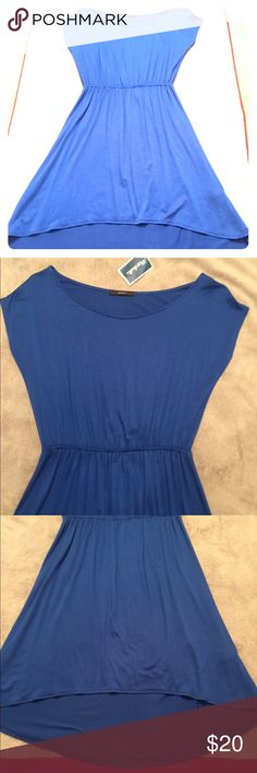 NWT Hi Lo Dress NWT Royal blue hi lo dress.  Juniors small. 95% rayon 5% spandex.  Very flattering! Soprano Dresses Mini