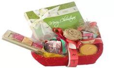 Christmas Bonanza Hamper - chocolates, plum cake, jam and candle