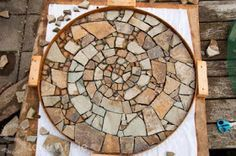 How To Make A Mosaic Out Of Stones And Broken Tile DIY Tutorial