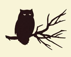 Check out this item in my Etsy shop https://www.etsy.com/listing/471794259/night-owl-perch-tree-branch-vinyl-decal