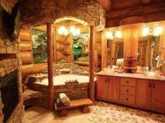 Great Bath Design for my Dream Cabin Home!