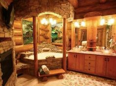 Great Bath Design for my Dream Cabin Home!