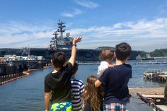 USS Ronald Reagan aircraft carrier departs Yokosuka for year's first patrol Uss Ronald Reagan, Navy Sailor, Military Families, Aircraft Carrier, Us Navy, Wednesday, New York Skyline, Dads, Stripes