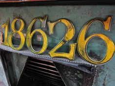Custom house numbers from Etsy House Numerology, Numerology Numbers, House Front, Front Porch, Front Doors, Today Is My Birthday, House Numbers, Mellow Yellow, Signs
