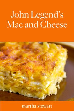 John Legend's Macaroni and Cheese | When musician John Legend visited Martha, he shared this recipe for his favorite Southern comfort food. This classic recipe is lightened up with skim and evaporated milks, before getting a cheesy layer of sharp Cheddar and Monterey Jack. Click here for one of our most popular recipes. #food #recipe #marthastewart #pastarecipes #macaroniandcheese
