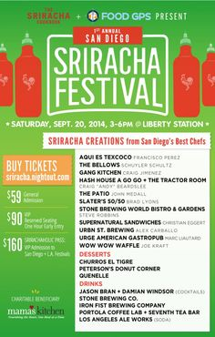 #GIVEAWAY: Win 2 VIP tickets to the #SanDiego #SrirachaFest plus signed copies of The #Sriracha Cookbook & The Veggie-Lover's Sriracha Cookbook!