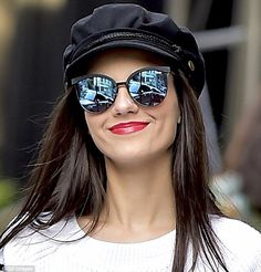 Trendysetter: Victoria Justice, 23, was spotted in the stylish cap as she hit the streets ...