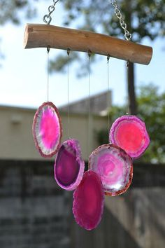 Natural Agate and Ocean Driftwood Handmade Wind Chime Mobiles, Diy And Crafts, Arts And Crafts, Diy Wind Chimes, Driftwood Art, Do It Yourself Home, Yard Art, Suncatchers, Diy Art