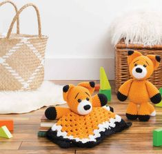 Cooper the Fox Amigurumi and Lovey Crochet Pattern