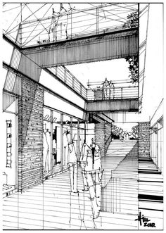 Interesting Find A Career In Architecture Ideas. Admirable Find A Career In Architecture Ideas. Croquis Architecture, Architecture Concept Drawings, Landscape Architecture, Architecture Design, Classical Architecture, Interior Design Sketches, Sketch Design, Line Design, Perspective Sketch