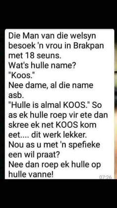 Men's Vans, Afrikaans, Jokes, Lol, Funny, Husky Jokes, Memes, Funny Parenting, Funny Pranks
