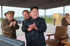 At U.N. and in the Air North Korea and U.S. Trade Tough Messages