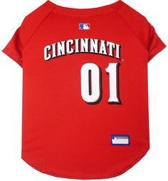 Shop where every purchase helps shelter pets! Cincinnati Reds Dog Jersey -  from  24.95 Mlb 30ad0a032