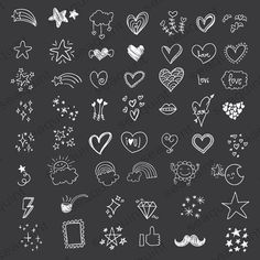 Hand drawn Heart Doodle Clipart – Scribbles, Doodle Clipart Clip Art P… Chalkboard Doodles, Chalkboard Art, Heart Doodle, Doodle Art, Doodle Frames, Poster Design Software, Heart Hands Drawing, Snapchat Stickers, Doodle Designs