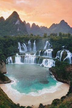 Top 10 Best Places to Visit in Vietnam - Tour To Planet Beautiful Places To Visit, Cool Places To Visit, Places To Travel, Places To Go, Beautiful Waterfalls, Beautiful Landscapes, Canon Photography, Travel Photography, Photography Photos