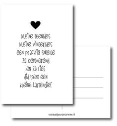 Postcard – Birth poem – Shop of Anne via www.nl Informations About Post… – babyname Diy Cards Baby, Unisex Baby Names, Godchild, Baby Album, Baby Quotes, Baby Kind, More Than Words, Getting Pregnant, Baby Fever