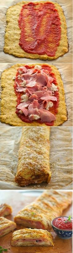 Cauliflower Crust Stromboli--need to try this for lunch/supper