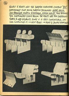 7. cardboard chair