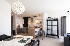 Modern Rustic Apartment in Poland: Inspiring Scandinavian Style Scandinavian Apartment, Rustic Apartment, Scandinavian Interior Design, Scandinavian Home, Apartment Design, Home Interior, Modern Interior, White Brick Backsplash, Large Floor Lamp